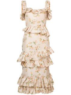платье с оборками и цветочным принтом Brock Collection