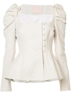 двубортный пиджак с квадратным вырезом  Brock Collection