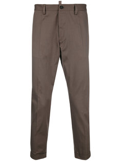 tapered trousers with turn up cuffs Dsquared2