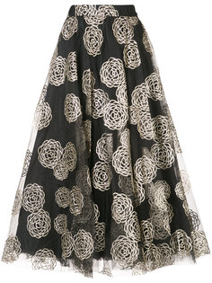 расклешенная юбка миди с узором  Co