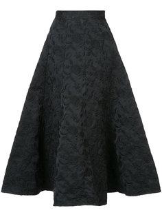 расклешенная юбка миди с цветочным узором  Co