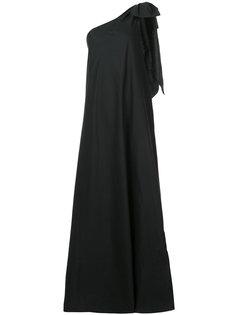 длинное платье на одно плечо Kalita