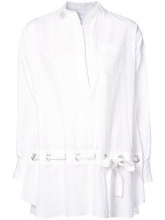 поплиновая рубашка с поясом  Sacai