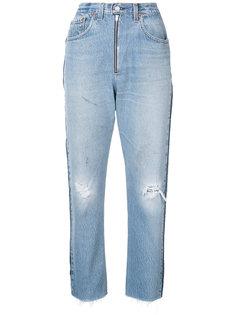 укороченные свободные джинсы с завышенной талией  Re/Done