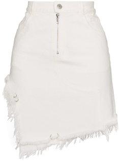 юбка Tams с высокой талией и необработанными краями Sandy Liang