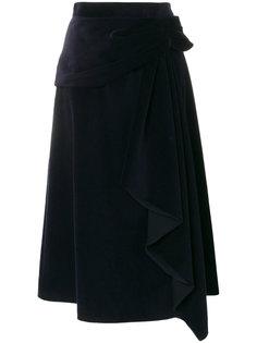 асимметричная юбка с драпировкой  Prada