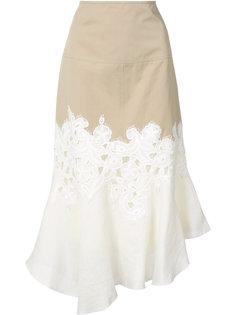 юбка с кружевной отделкой Derek Lam