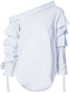 блузка в полоску с открытыми плечами  Silvia Tcherassi