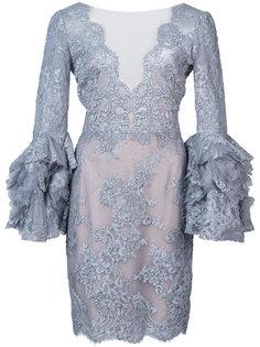 облегающее кружевное платье Marchesa