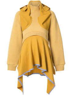 многослойное платье-свитер  Undercover