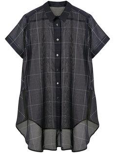 клетчатая рубашка из органзы  Sacai