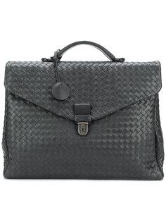 портфель с плетеным дизайном Bottega Veneta