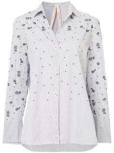 рубашка в полоску с цветочным принтом  Marc Cain