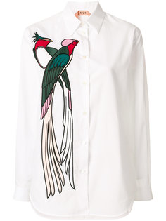 рубашка с аппликацией птицы Nº21