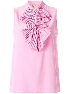 блузка без рукавов с рюшами Nº21