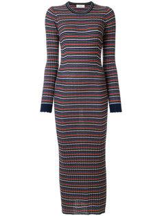 платье-свитер узкого кроя с полосатым узором Pringle Of Scotland