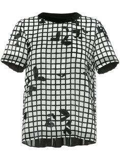 блузка с принтом сетки Sacai
