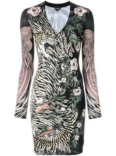 облегающее платье с цветочным принтом Just Cavalli