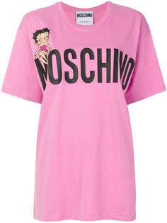 футболка свободного кроя Betty Boop Moschino