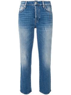 укороченне джинсы прямого кроя  7 For All Mankind