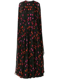 платье с принтом  Alexander McQueen