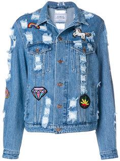 джинсовая куртка с нашивками Forte Couture