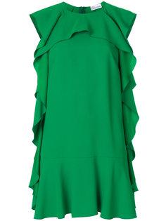 платье-шифт с рюшами Red Valentino
