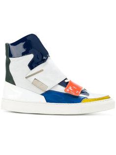 кроссовки с застежкой на липучки  Raf Simons
