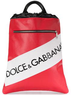 рюкзак на шнурке с панелью с логотипом Dolce & Gabbana