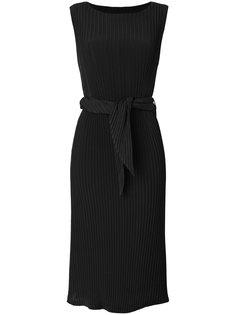 платье в рубчик с поясом  Issey Miyake
