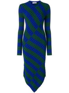 асимметричное платье в полоску  Altuzarra