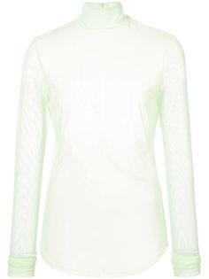 полупрозрачная сетчатая блузка  Nomia