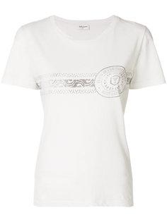 printed short sleeved T-shirt Saint Laurent