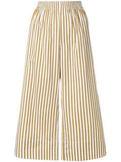 укороченные брюки в полоску Joseph
