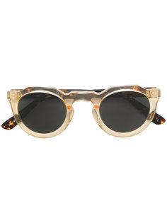 солнцезащитные очки с круглой оправой Lesca