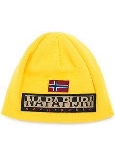 вязаная шапка с логотипом Napapijri