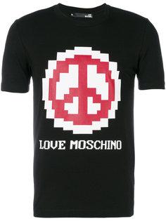 футболка Peace Love Moschino