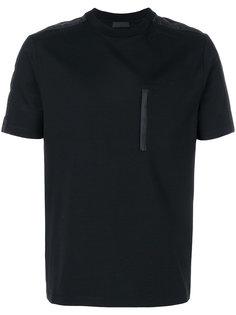 футболка с нагрудным карманом Prada