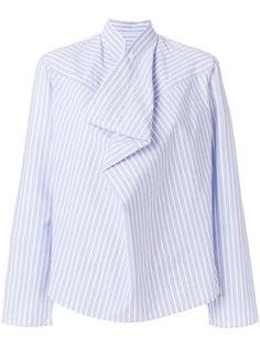 полосатая асимметричная рубашка Mm6 Maison Margiela