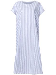 полосатое платье-рубашка Mm6 Maison Margiela