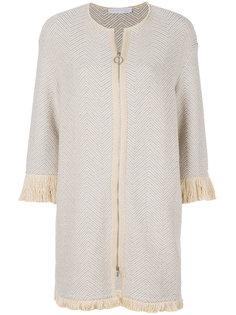 удлиненный пиджак с бахромой Fabiana Filippi