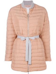 стеганое пальто с завязками  Fabiana Filippi