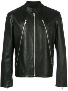 кожаная куртка на молнии Maison Margiela