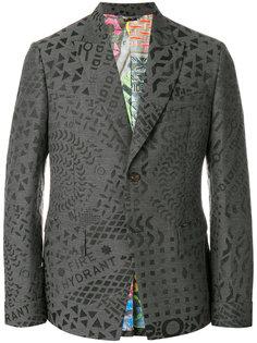 пиджак со сплошным принтом Vivienne Westwood Anglomania