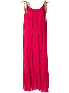 расклешенное платье-макси Roberto Collina