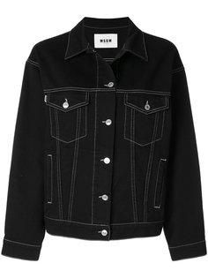 джинсовая куртка с логотипом на спине MSGM