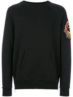 embroidered patch sweatshirt Balmain