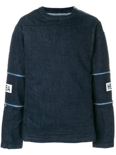 double zip patch sleeve sweatshirt Hood By Air