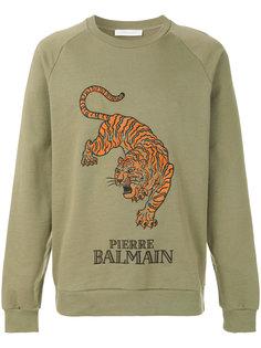 толстовка с принтом тигра Pierre Balmain