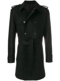 двубортное пальто с поясом Kris Van Assche